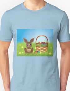 Easter Bunny with Eggs in the Basket T-Shirt