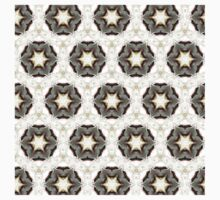 white star graphic pattern from hand painted design T-Shirt