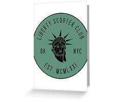 Liberty Scooter Club Greeting Card