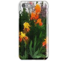 Pickett Fence Irises iPhone Case/Skin