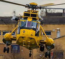 RAF SAR Sea King Helicopter by David Charlton