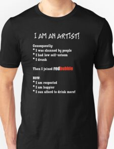 Artist's Statement (white lettering) Unisex T-Shirt