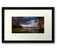 Lightning Storm - NT Australia Framed Print