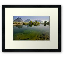 Yu Long River, YangZhuo, Guangxi, China Framed Print