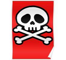 manga skull pirat crossbones Poster