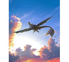 How To Train Your Dragon - Hiccup and Toothless  Photographic Print