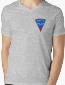Amity Police Mens V-Neck T-Shirt
