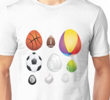 Egg Shaped Sport Balls Unisex T-Shirt