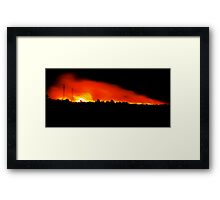 Fire in Night Sky - Melbourne Framed Print