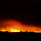 Fire in Night Sky - Melbourne (Portrait) by daniel-luke