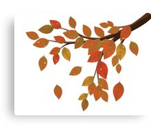 Fall Leaves on Branch Canvas Print