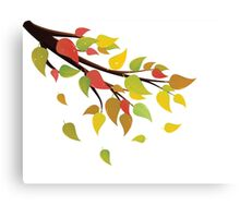 Fall Leaves on Branch 2 Canvas Print