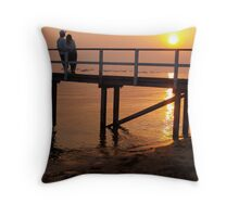 Sunset on sand Throw Pillow