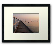 Seamless Horizon Framed Print