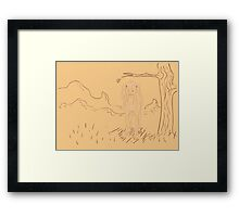Rural Landscape with a Sheep Framed Print