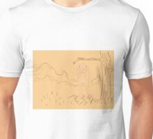 Rural Landscape with a Sheep Unisex T-Shirt