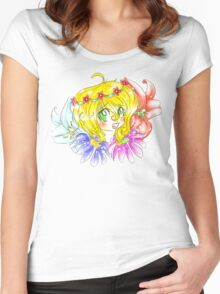Flower Fun Women's Fitted Scoop T-Shirt