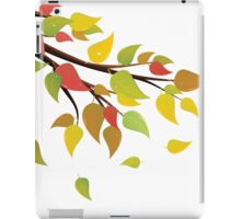 Fall Leaves on Branch 2 iPad Case/Skin