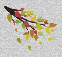 Fall Leaves on Branch 2 One Piece - Long Sleeve