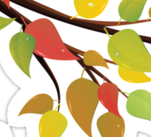Fall Leaves on Branch 2 Sticker