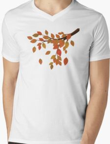 Fall Leaves on Branch Mens V-Neck T-Shirt