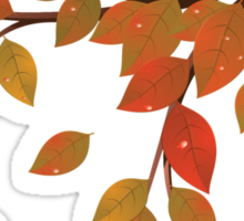 Fall Leaves on Branch Sticker