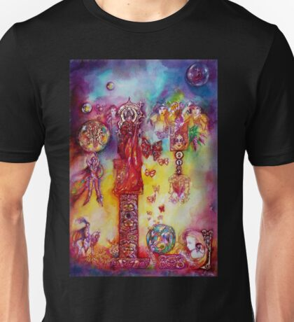 GARDEN OF THE LOST SHADOWS ,FAIRIES AND BUTTERFLIES Unisex T-Shirt