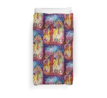 GARDEN OF THE LOST SHADOWS ,FAIRIES AND BUTTERFLIES Duvet Cover