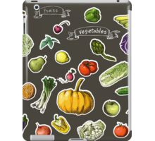 illustration of a set of hand-painted vegetables, fruits iPad Case/Skin