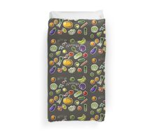 illustration of a set of hand-painted vegetables, fruits Duvet Cover