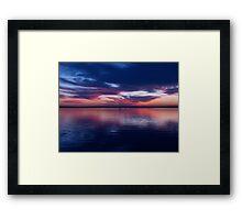 Mirror Blue Framed Print