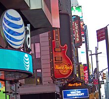 NYC Hard Rock Cafe by Dennis  Stanton