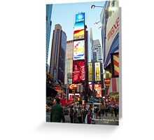 NYC Time Square 2 Greeting Card