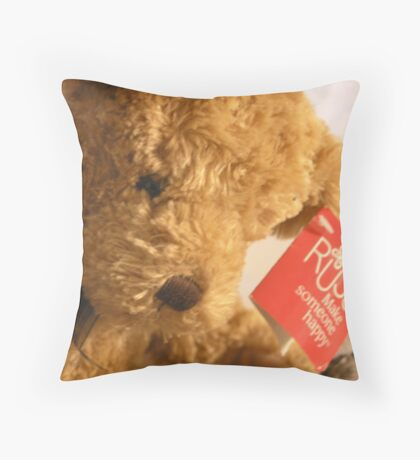 Teddy's Loney Throw Pillow