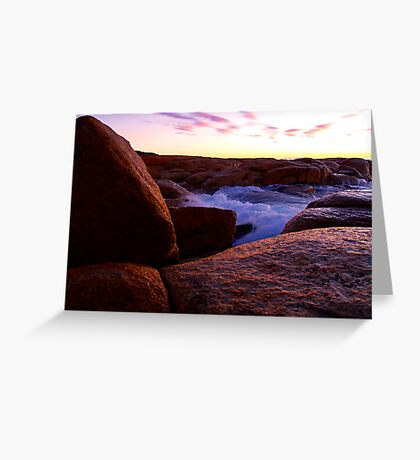 Water on Rock Greeting Card