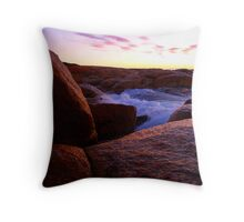 Water on Rock Throw Pillow