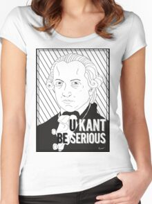 U Kant be serious Women's Fitted Scoop T-Shirt