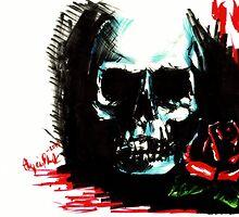Skull by alyciaplankart