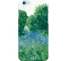 Bluebells oil painting on paper iPhone Case/Skin