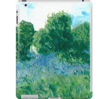 Bluebells oil painting on paper iPad Case/Skin