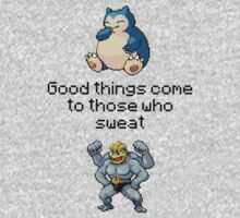 Machamp #68 Snorlax #134 - WORK OUT! by NumberIX