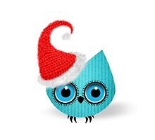 Santa Owl Knit by elfrichardson