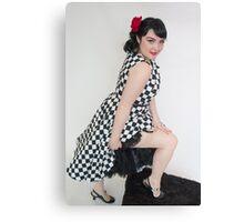 Sassy stocking wearer Canvas Print