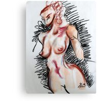 Abstract Charcoal Nude 1 Canvas Print