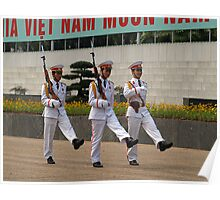 Changing Guard at the Mausoleum of Ho Chi Minh, Hanoi Poster