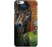 The man and the horse iPhone Case/Skin