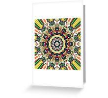 Ornate Mandala Design Greeting Card