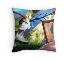 Surreal Bust Portrait Throw Pillow