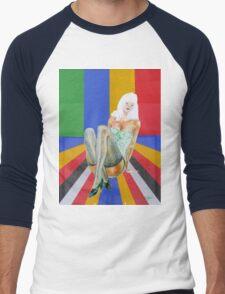 retro popart design stilettos Men's Baseball ¾ T-Shirt