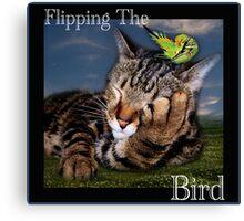 Flipping The Bird Canvas Print